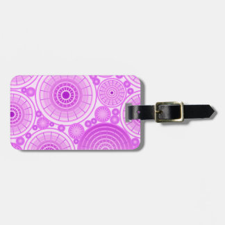 Nested wheels - lavender and purple luggage tag