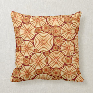 Nested wheels - shades of chocolate throw pillow