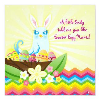 """Nester del huevo de Pascua - invitaciones azules Invitación 5.25"""" X 5.25"""""""