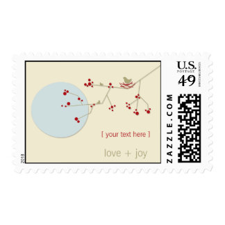 Nesting Bird and Family Baby Shower Postage