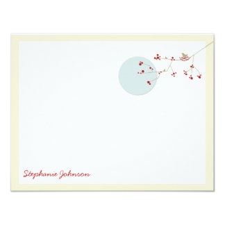 "Nesting Bird Family *01 Baby Shower Thank You Card 4.25"" X 5.5"" Invitation Card"