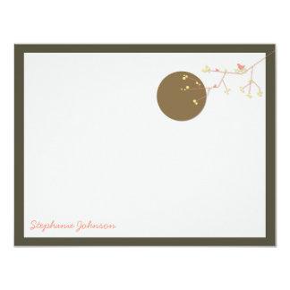 "Nesting Bird Family *02 Baby Shower Thank You Card 4.25"" X 5.5"" Invitation Card"
