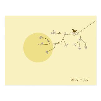Nesting Bird + Family | *04 | Baby Shower Postcard