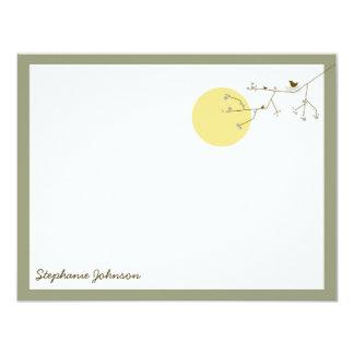 "Nesting Bird Family *04 Baby Shower Thank You Card 4.25"" X 5.5"" Invitation Card"