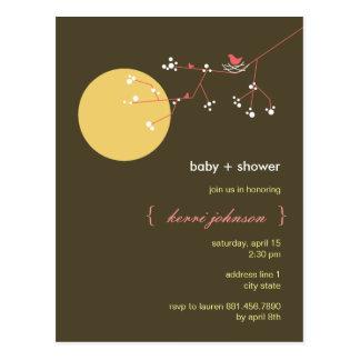 Nesting Bird + Family   *05   Baby Shower Postcard
