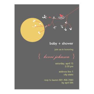 Nesting Bird + Family | *05 | Baby Shower Postcard