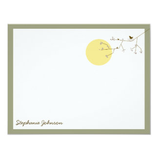 Nesting Bird & Family Baby Thank You Note Card