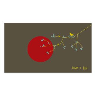 Nesting Bird & Family Pregnancy Baby Profile Card Business Card