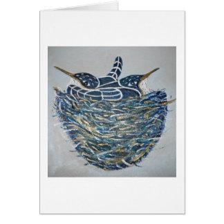 nesting birds card