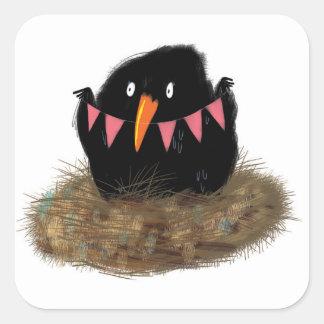 Nesting Birdy Sticker