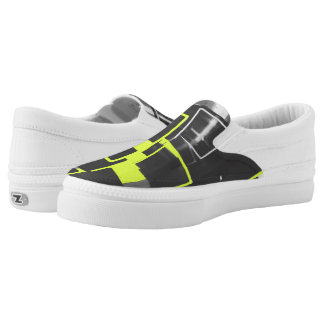 Nesting Boxes in Minion Yellow Slip-On Sneakers