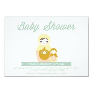 Nesting Doll Baby Shower Invitation