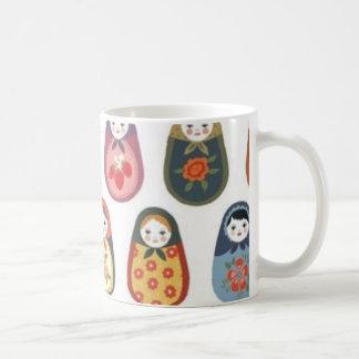 Nesting doll print coffee mug