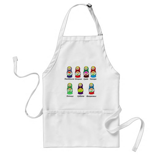 Nesting Dolls Day of the Week Aprons