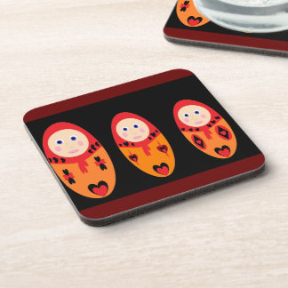 Nesting Dolls Square Coaster