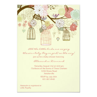 Nesting Floral Baby Shower Invitation