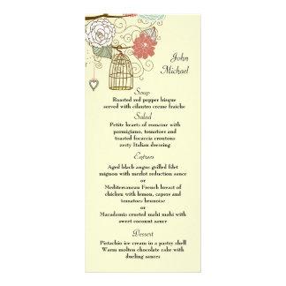 Nesting Floral Menu Card