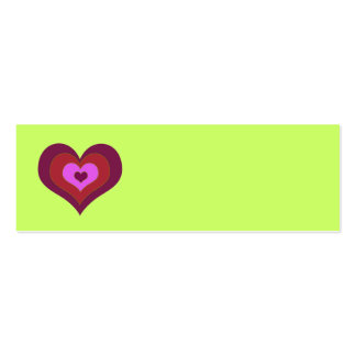 Nesting Hearts Placecards Double-Sided Mini Business Cards (Pack Of 20)