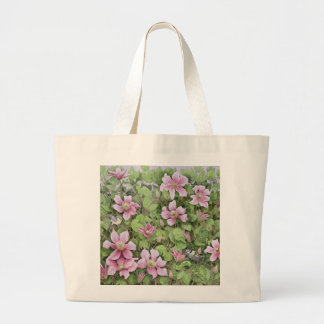 Nesting in Clematis Large Tote Bag