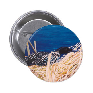 Nesting Loon Button