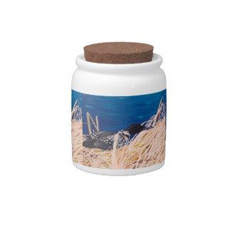 Nesting Loon Candy Jar
