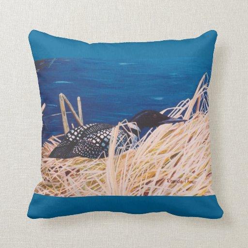 Nesting Loon Pillow
