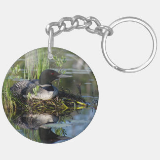 Nesting Loons keychain