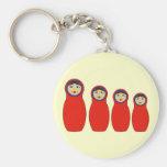 Nesting Peg Dolls Keychain