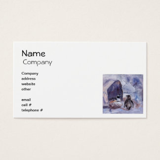 Nesting Penguins Business Cards
