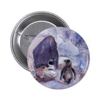 nesting penguins button