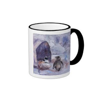 nesting penguins mug