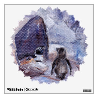 Nesting Penguins Wall Sticker