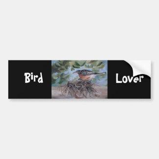 Nesting Robin Bumper Sticker