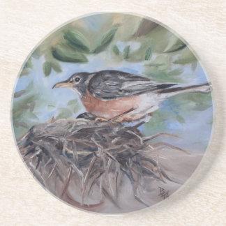 Nesting Robin Coasters
