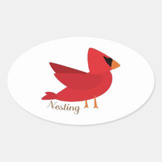 Nesting Oval Stickers