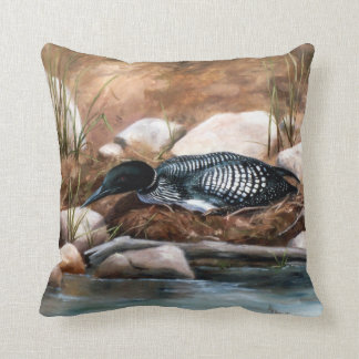 Nesting Time Loon Pillow
