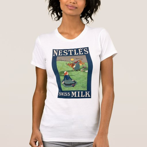 Nestle's Swiss Milk W's white Tee Shirt