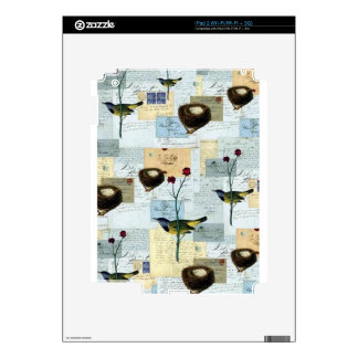 Nests and small birds decal for the iPad 2