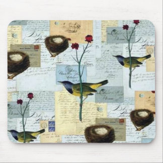 Nests and small birds mouse pad