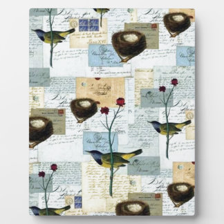 Nests and small birds plaque