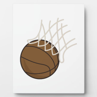 Net and Basketball Plaque