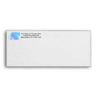 Net background with light blue envelope