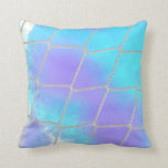 Net background with light blue pillows