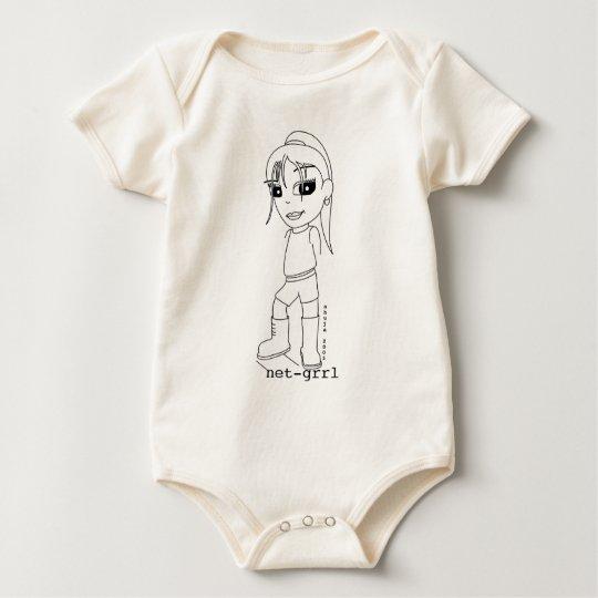 Net Grrl for Baby Net Grrls! Baby Bodysuit