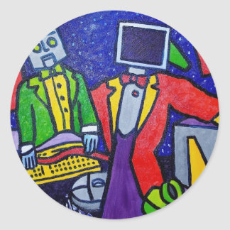 Net Head by Piliero Classic Round Sticker