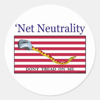 Net Neutrality - Don't Tread On Me Classic Round Sticker