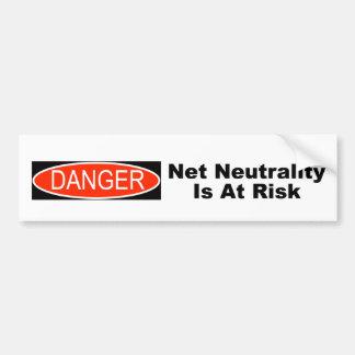Net Neutrality Is At Risk Bumper Sticker