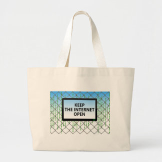 Net Neutrality | Keep the Internet Open Large Tote Bag