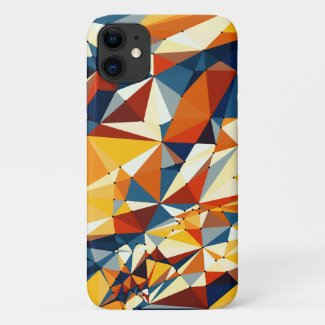 Net of multicolored triangles iPhone 11 case