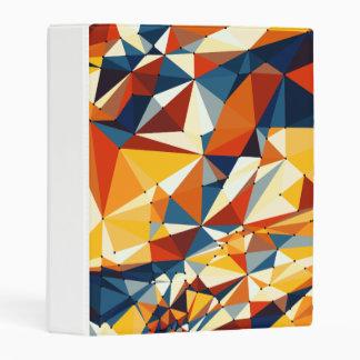 Net of multicolored triangles mini binder
